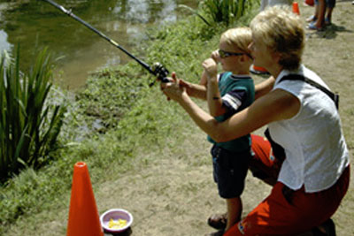 A young angler at Fish Fest